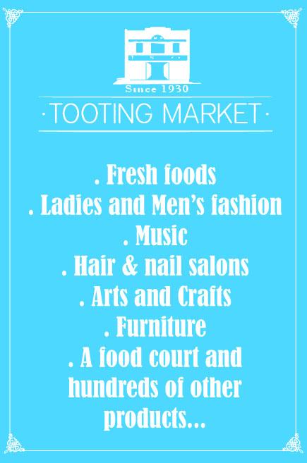 Tooting Market stalls